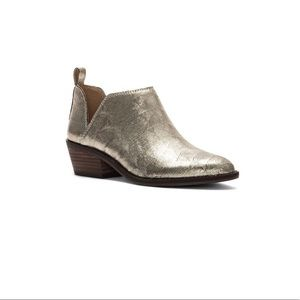 🆕 Lucky Brand Fayth 2 Gold Metallic Leather Boots